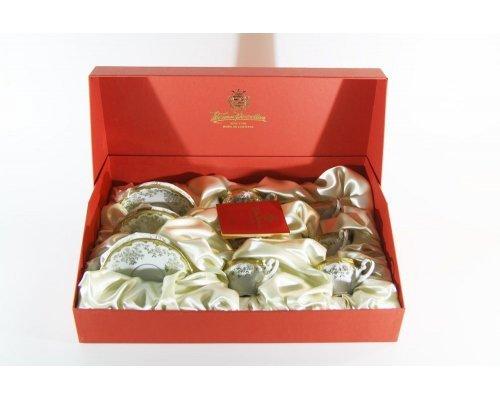 Набор кофейный мокко Кастэл Weimar Porzellan на 6 персон 12 предметов 100 мл подарочный