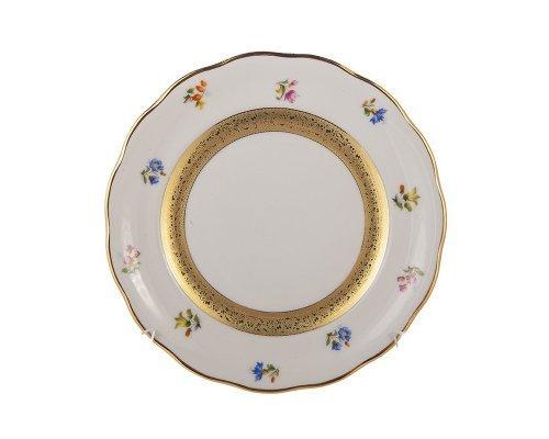 Набор тарелок 17см. Золотая лента и цветы Epiag Аляска 3052 6шт.