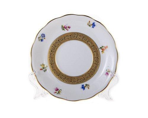 Набор блюдец 14см Золотая лента и цветы Epiag Аляска 3052 6шт.