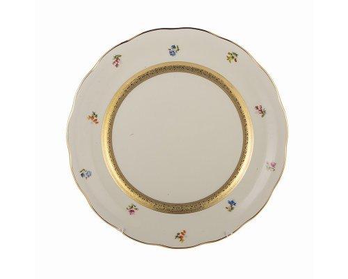 Набор тарелок 26см Epiag Золотая лента и цветы слоновая кость 6шт.