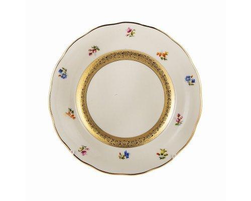 Набор тарелок 17см. Epiag Золотая лента и цветы слоновая кость 6шт.