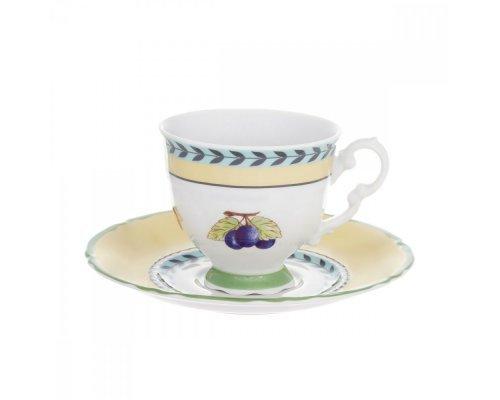 Набор для кофе 150 мл Leander Соната 2703 Фрукты на 6 персон 12 предметов