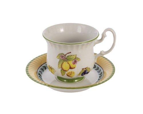 Набор для чая высокие чашки 200мл Leander Соната 2703 Фрукты на 6 персон 12 предметов