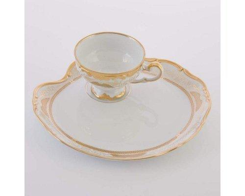 """Набор чайный Эгоист 210мл. на 1 персону 2 предмета Weimar Porzellan """"Симфония Золотая"""""""