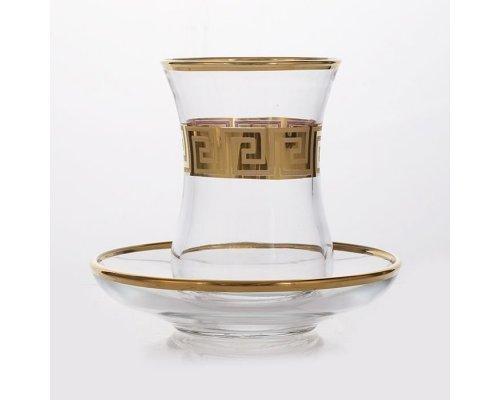 "Набор для чая на 6 персон 12 предметов Union Glass ""Армуда-Костка 200/10"""