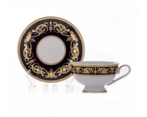 "Набор для чая 200мл. Bavaria ""Александрия Блэк/зол."" на 6 персон 12 предметов"