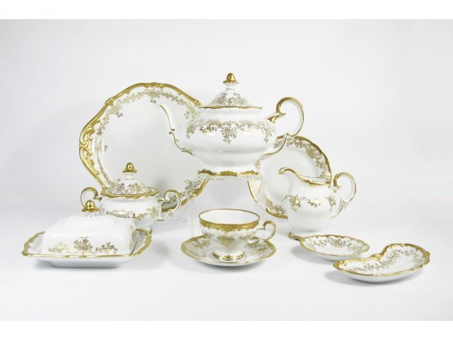 """Сервиз чайный Weimar Porzellan 210мл. """"Кастэл"""" на 12 персон 54 предмета 17см"""