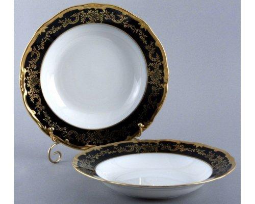 """Набор глубоких тарелок 24см. 6шт Weimar Porzellan """"Ювел синий """""""