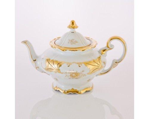 """Чайник 1,2л. Weimar Porzellan """"Кленовый лист белый"""""""