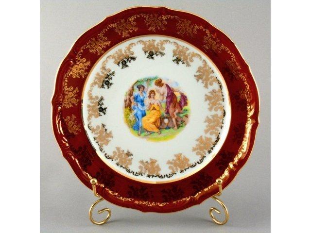 "Набор тарелок Bavaria ""Мадонна красная"" 24см 6шт."
