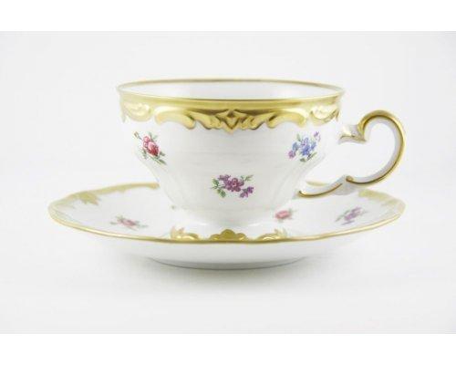 """Набор чайный 210мл. 2 предмета Weimar Porzellan """"Мейсенский цветок"""""""