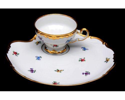 """Набор чайный Эгоист 210мл. на 1 персону 2 предмета Weimar Porzellan """"Мейсенский цветок"""""""