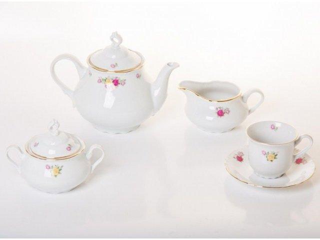 """Сервиз чайный на 6 персон 15 предметов Thun """"Констанция 632600"""""""