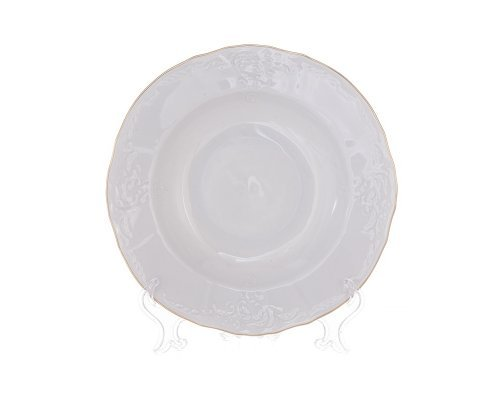 Набор глубоких тарелок 21 см Бернадотт Белый узор 6 штук