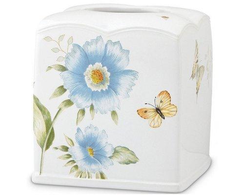 """Подставка для салфеток 16см Lenox """"Бабочки на лугу"""" (голубой)"""