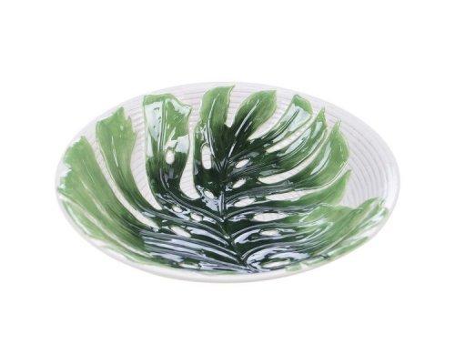 """Блюдо круглое Certified Intl """"Пальмовые листья"""" 33см, 3D (рельеф)"""