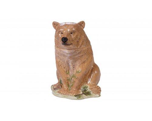 """Банка для печенья 3D Certified Intl """"Заповедный лес"""" 25см (медведь)"""