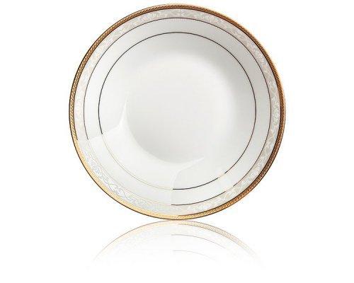 "Тарелка суповая 19см Noritake ""Хэмпшир, золотой кант"""