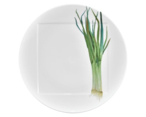 """Тарелка обеденная Noritake """"Овощной букет"""" """"Зеленый лук"""" 27см"""