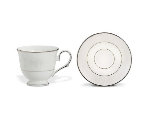 """Чашка чайная с блюдцем Lenox """"Чистый опал"""" 180 мл"""