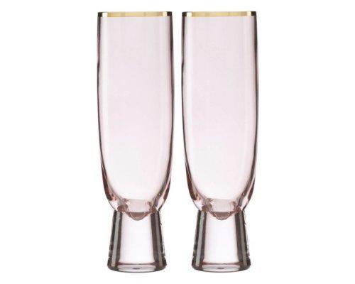 """Набор фужеров для шампанского Lenox """"Трианна"""" 320мл, 2шт (пудровый)"""
