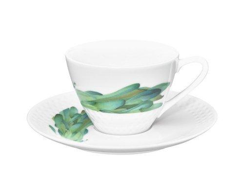 """Чашка чайная с блюдцем Noritake """"Овощной букет"""" """"Горчица"""" 210 мл"""