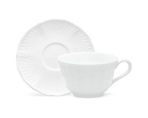 """Чашка чайная с блюдцем 215мл Noritake """"Шер Бланк"""""""