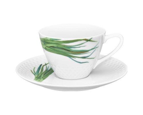 """Чашка с блюдцем """"Овощной букет"""" """"Зеленый лук"""" Noritake 210 мл"""