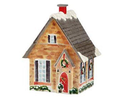 """Банка для печенья 26см Lenox """"Праздничный дом, Новогодние праздники"""""""