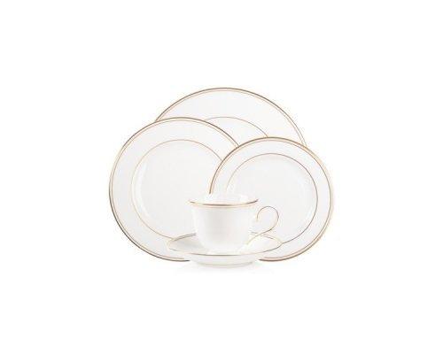 """Набор посуды чайно-столовый Lenox """"Федеральный, золотой кант"""" на 1 персону 5 предметов в подарочной коробке"""