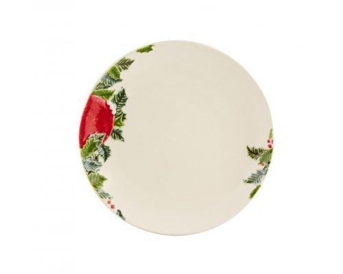 Тарелка обеденная Bordallo Pinheiro Новогодние шары 27,5см