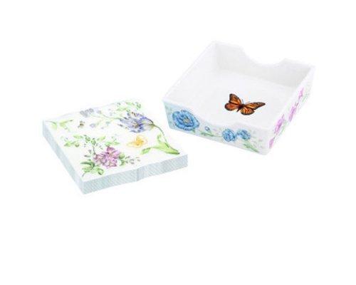 """Подставка для салфеток 12см Lenox """"Бабочки на лугу"""""""