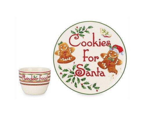 """Набор посуды для печенья из 2 предметов Lenox """"Обратный отсчет до Рождества"""""""