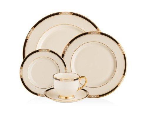 """Набор посуды чайно-столовый Lenox """"Подлинные ценности"""" на 1 персону 5 предметов"""