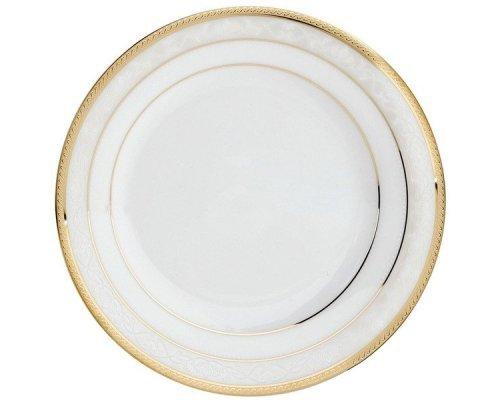 "Тарелка закусочная 21см Noritake ""Хэмпшир, золотой кант"""