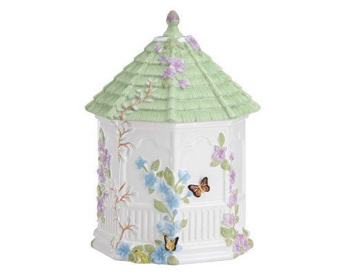 """Банка для печенья 25см Lenox """"Бабочки на лугу"""" (беседка)"""
