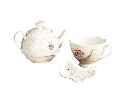 "Набор чайный Lenox ""Бабочки на лугу"" ""Эгоист"" на 1 персону 3 предмета"