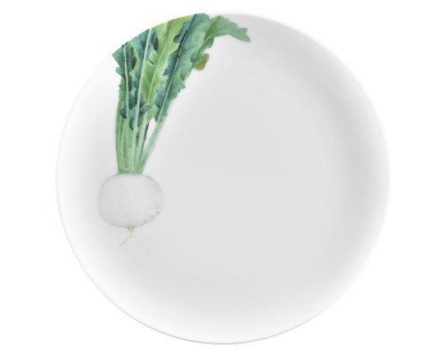 """Тарелка закусочная Noritake """"Овощной букет"""" """"Редька"""" 24см"""