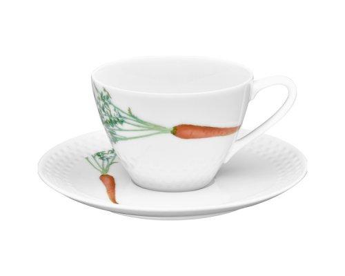 """Чашка с блюдцем """"Овощной букет"""" """"Морковка"""" Noritake 210 мл"""
