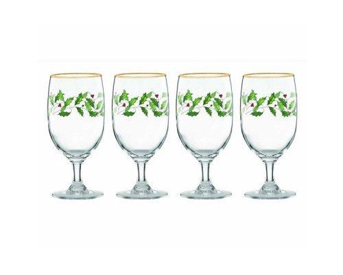 "Набор из 4 бокалов для вина 340мл Lenox ""Новогодние праздники"""