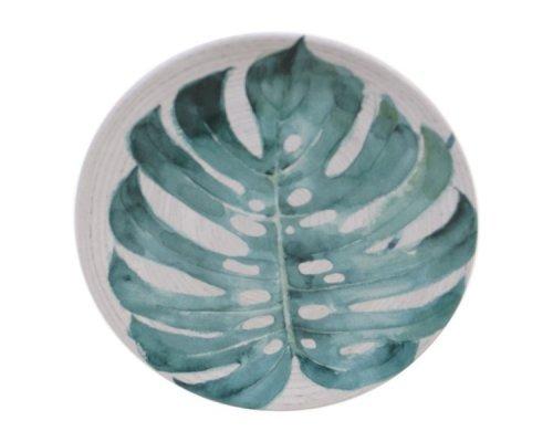 """Тарелка закусочная Certified Intl """"Пальмовые листья"""" 22см"""