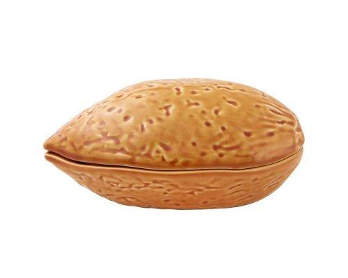 Блюдо для горячего с крышкой Bordallo Pinheiro Орехи 17см Миндаль