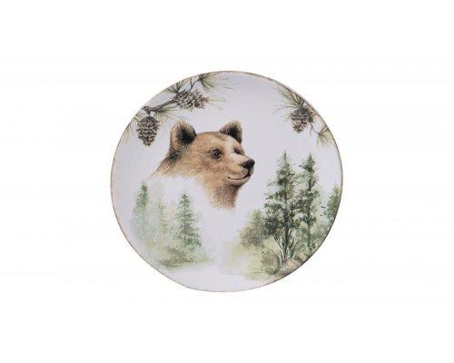 "Тарелка акцентная Certified Intl ""Заповедный лес. Медведь"" 23см"
