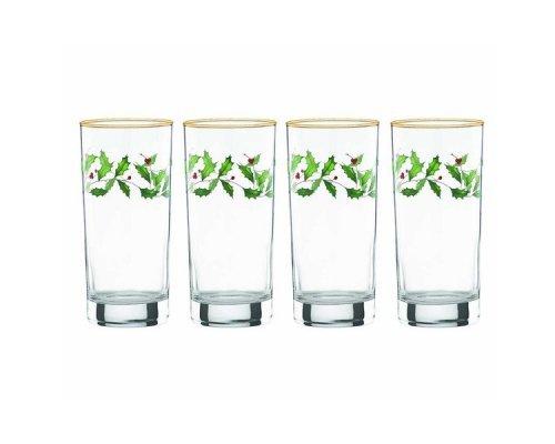 """Набор из 4 бокалов для воды 350мл Lenox """"Новогодние праздники"""""""