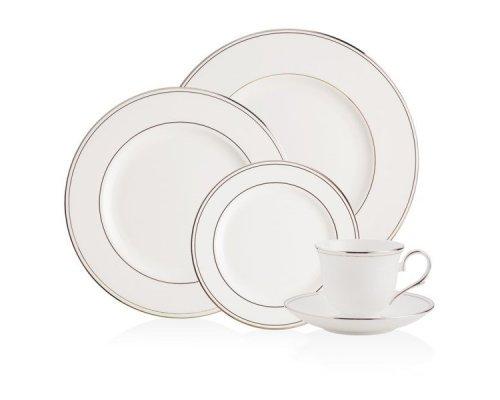 """Набор посуды чайно-столовый Lenox """"Федеральный, платиновый кант"""" на 1 персону 5 предметов"""