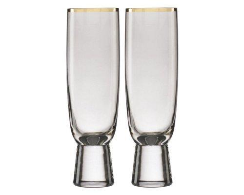 """Набор фужеров для шампанского Lenox """"Трианна"""" 325мл, 2шт (дымчатый)"""