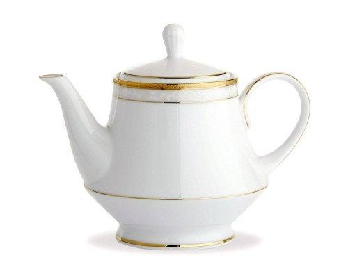 """Чайник заварочный Noritake """"Хэмпшир, золотой кант"""" 1,1 л"""