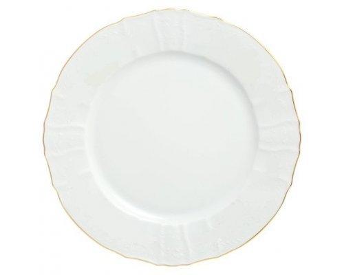 Блюдо круглое 30 см Бернадотт Белый узор