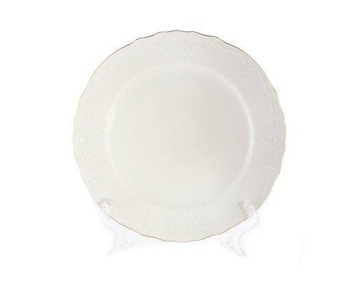 Набор тарелок 27 см Бернадотт Белый узор (6 шт)