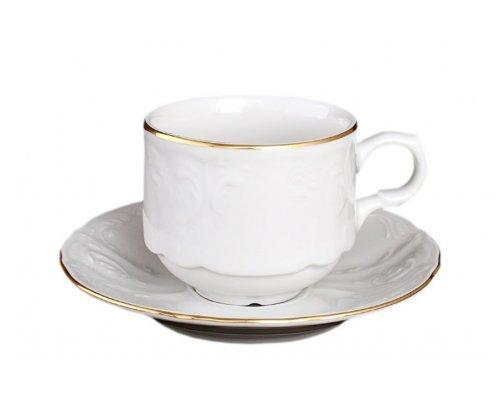 Набор кофейных пар Bernadotte Белый узор 120 мл (6 пар)
